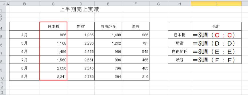 Excel関数SUM2